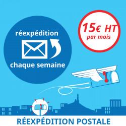 1 mois de Réexpédition postale toutes les semaines - Domiciliation d'entreprises à Marseille 7ème