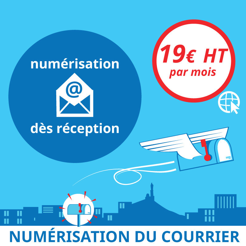 Numérisation du courrier dès réception - Domiciliation d'entreprises à Marseille 7ème