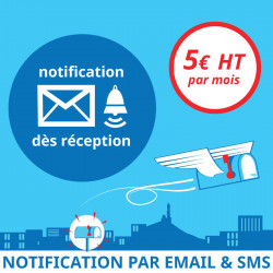 Notification dès réception d'un courrier