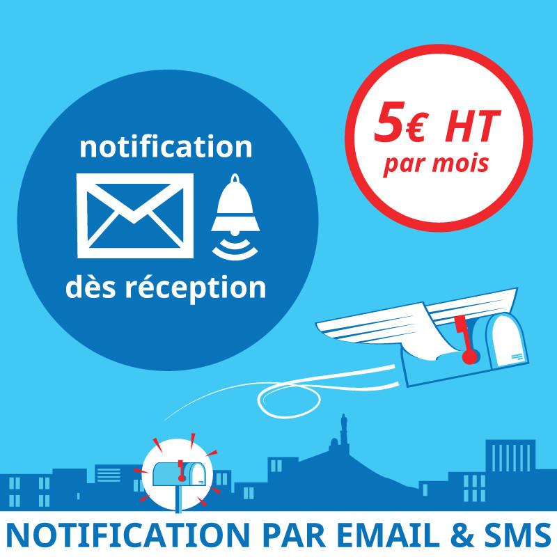 Notification dès réception d'un courrier - Domiciliation d'entreprises à Marseille 7ème