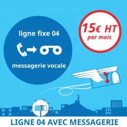 Attribution d'une ligne fixe en 04 avec messagerie vocale - Domiciliation d'entreprises à Marseille 7ème