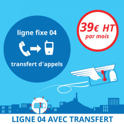 Attribution d'une ligne fixe en 04 avec transfert d'appels - Domiciliation d'entreprises à Marseille 7ème